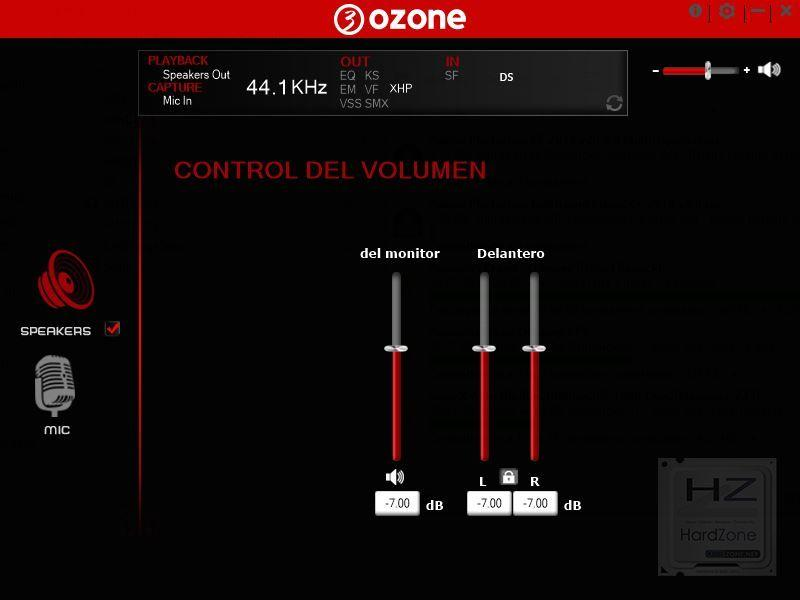 Ozone Rage X60 - Review software 1