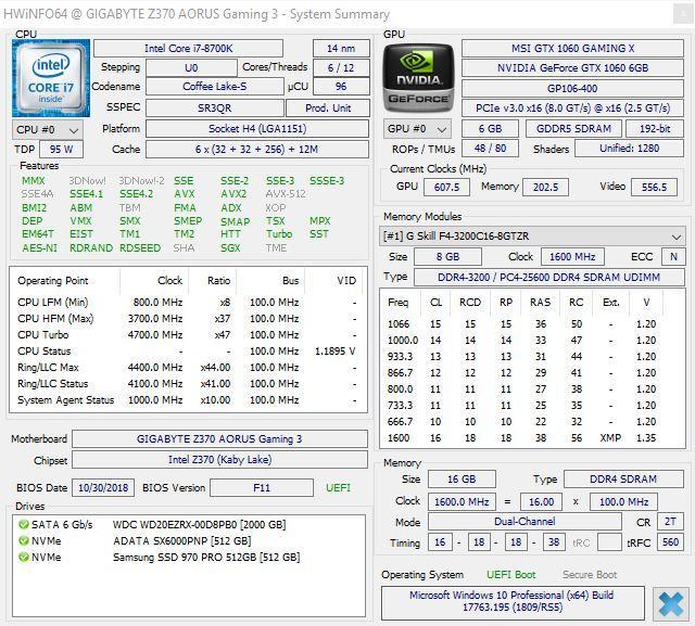 HWiNFO 6.0 - Resumen PC