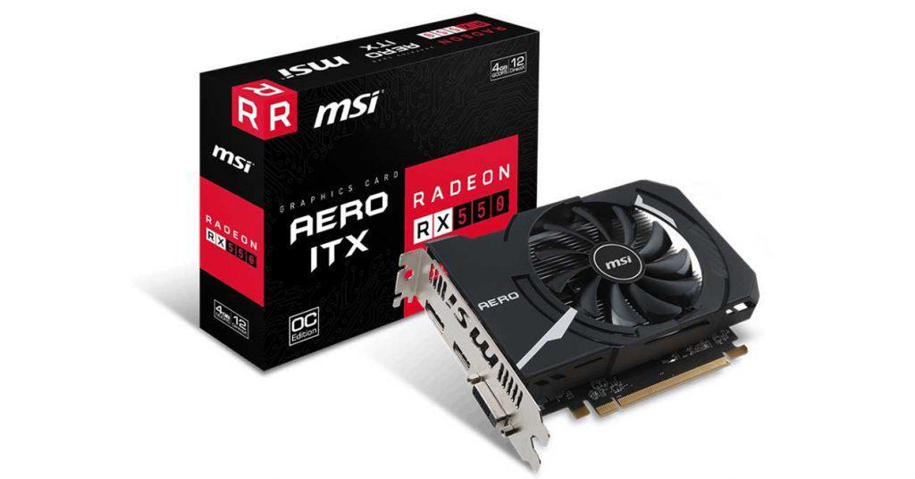 MSI-RX-550-Aero-ITX-4-GB