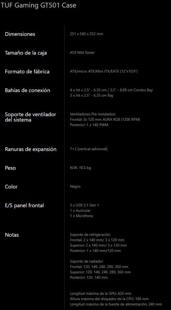 Asus-TUF-Gaming-GT501-specs
