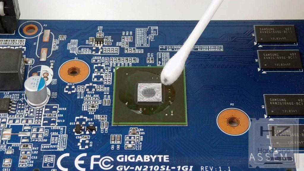 Cambiar pasta térmica GPU032