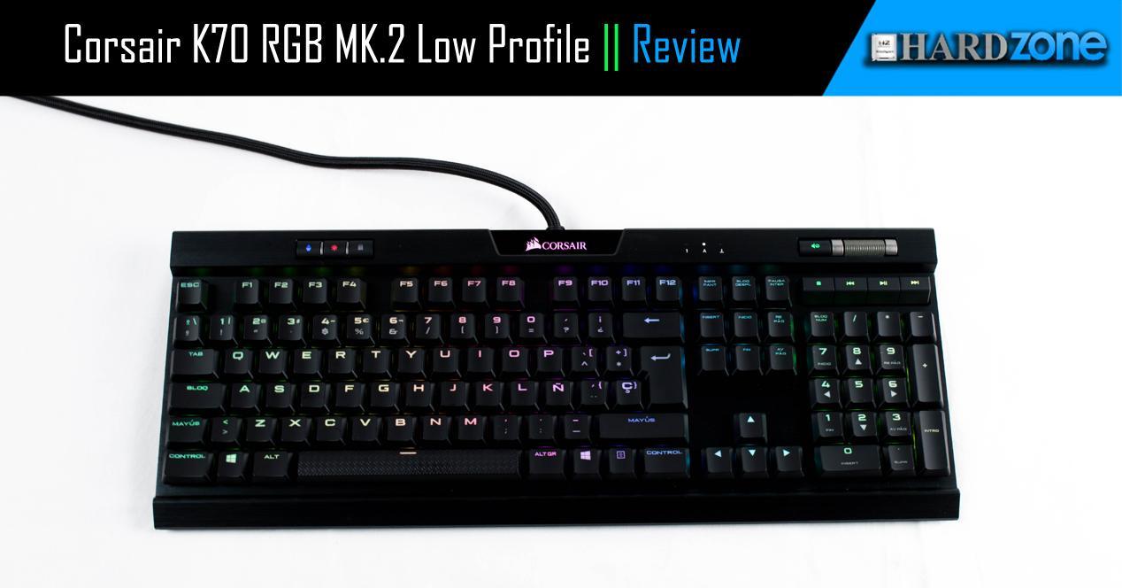 Ver noticia 'Corsair K70 RGB MK.2 Low Profile RapidFire, review: el perfil bajo llega a los teclados mecánicos'