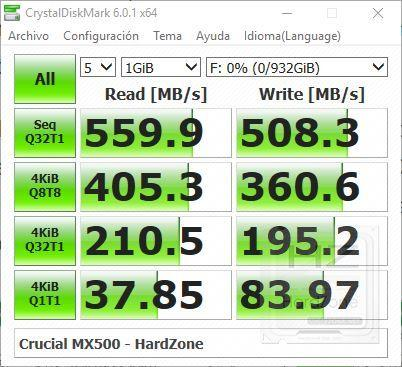Crucial MX500 1 TB - Review Benchmark 4