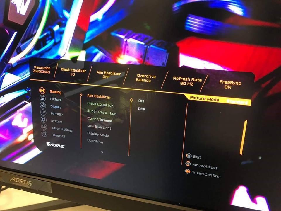 Gigabyte AORUS monitor 4
