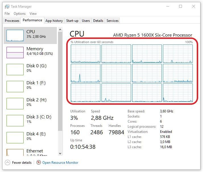 Cómo comprobar el número de núcleos e hilos de tu procesador en Windows 10 2