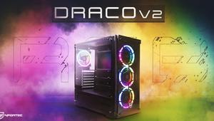 Nfortec Draco v2: nueva caja barata con cuatro ventiladores RGB y USB C