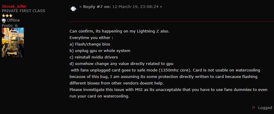 MSI RTX 2080 Ti Lightning - Problema GPU 3