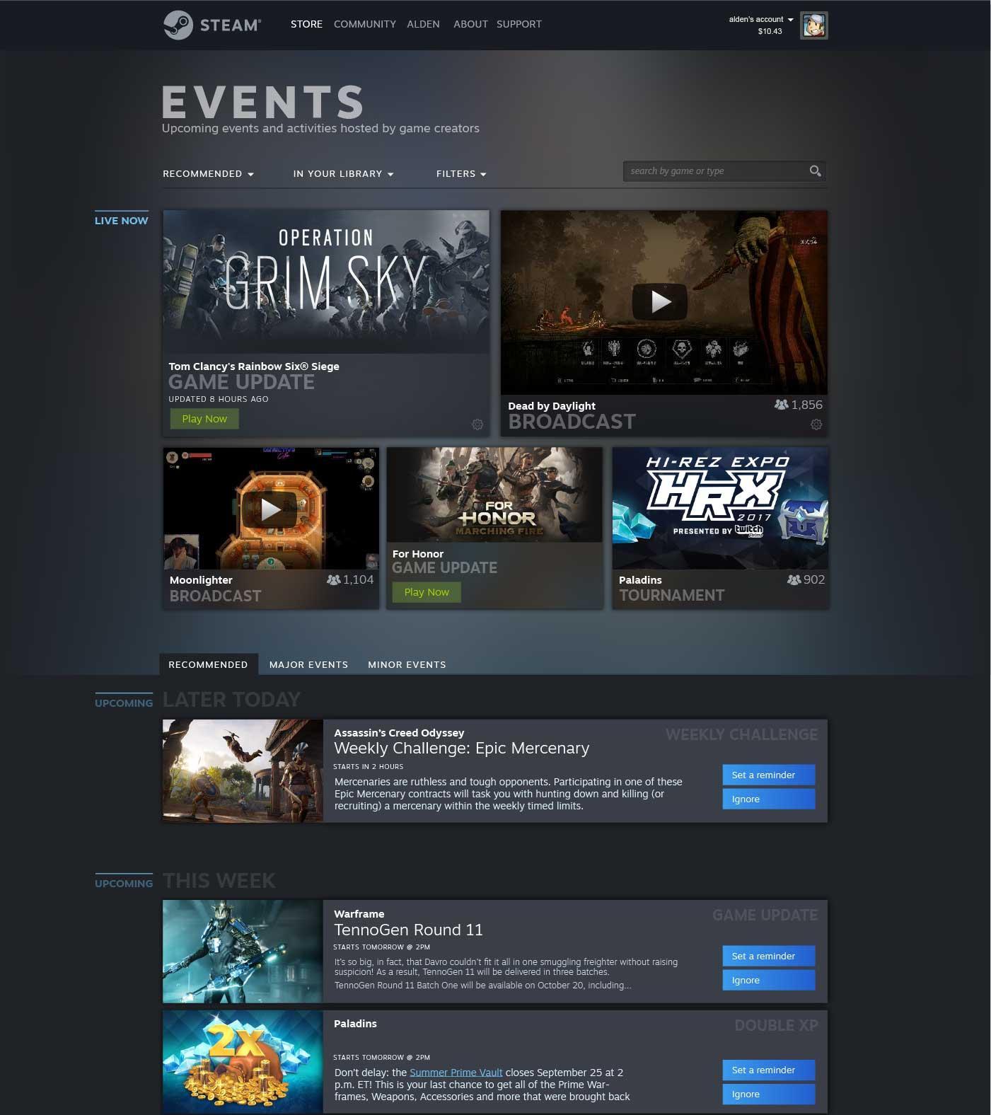 Steam-Eventos