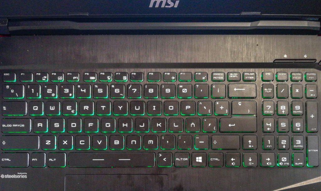 Teclado MSI GP63