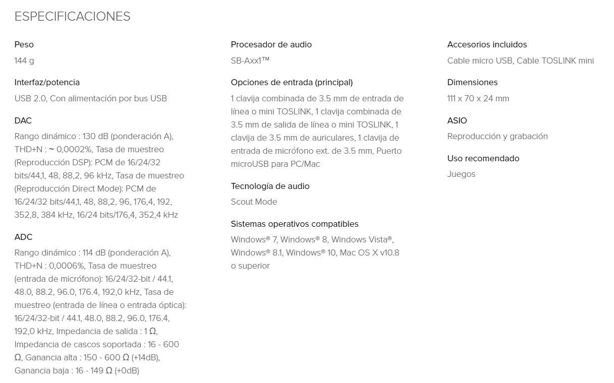 Creative Sound BlasterX G6, review: tarjeta de sonido externa para
