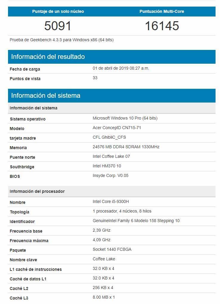 Intel-Core-i5-9300H-Geekbench