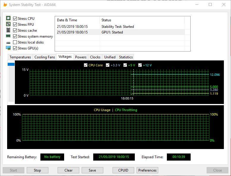 AIDA64 Test rendimiento BitFenix Formula Gold