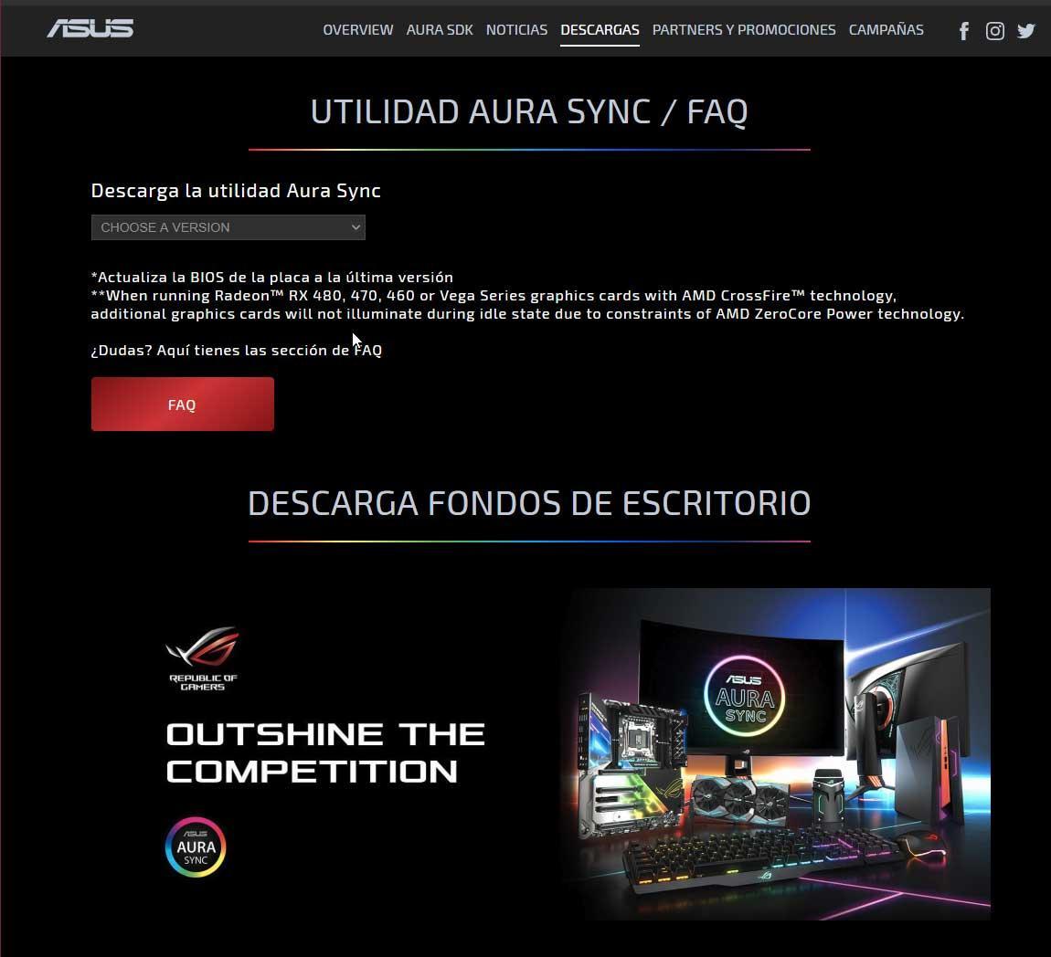 ASUS AURA Sync: cómo instalar y configurar el software de iluminación