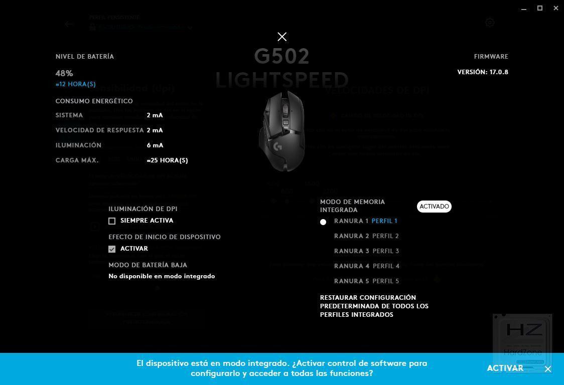 Logitech G502 Lightspeed - Review Benchmark 7