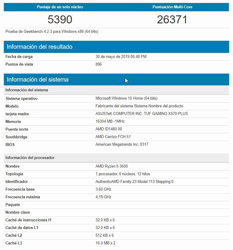AMD Ryzen 5 3600 X570