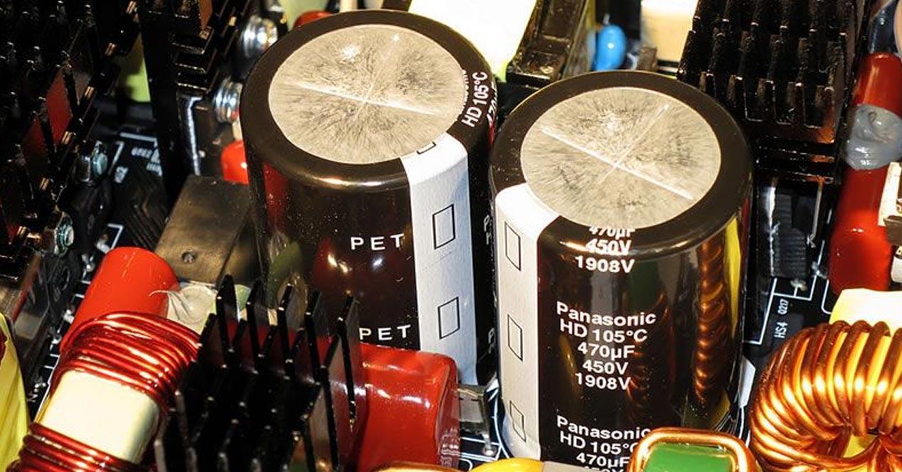 condensadores fuentes de alimentación
