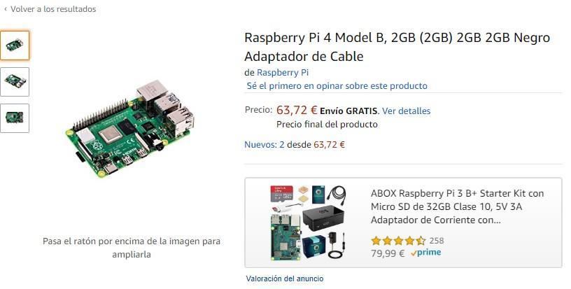 Raspberry Pi 4 precio