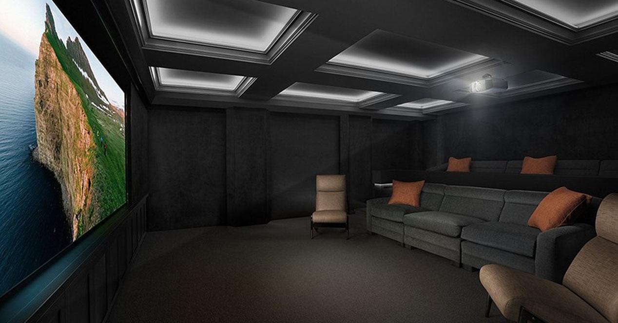 Proyector en salón