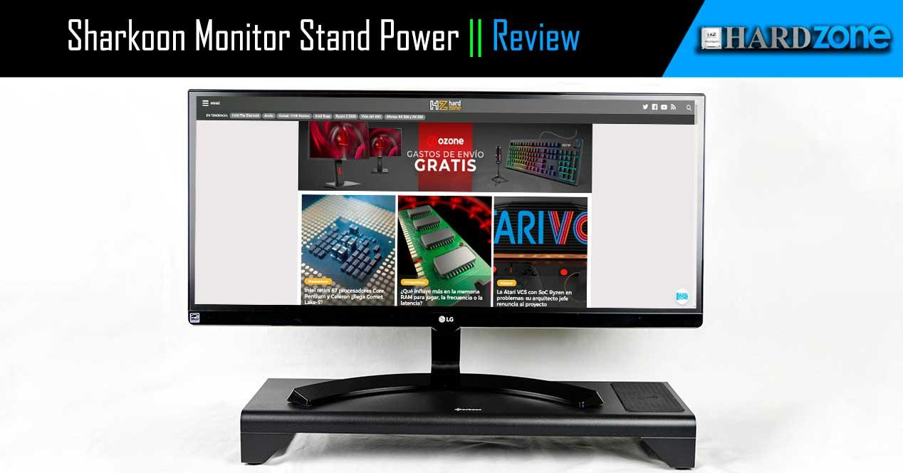 Review Sharkoon Monitor Stand Power