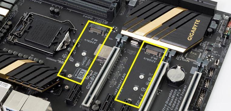 Zócalos para instalar SSD M.2