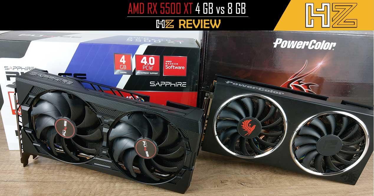 Portada AMD RX 5500 XT 4 GB vs 8 GB