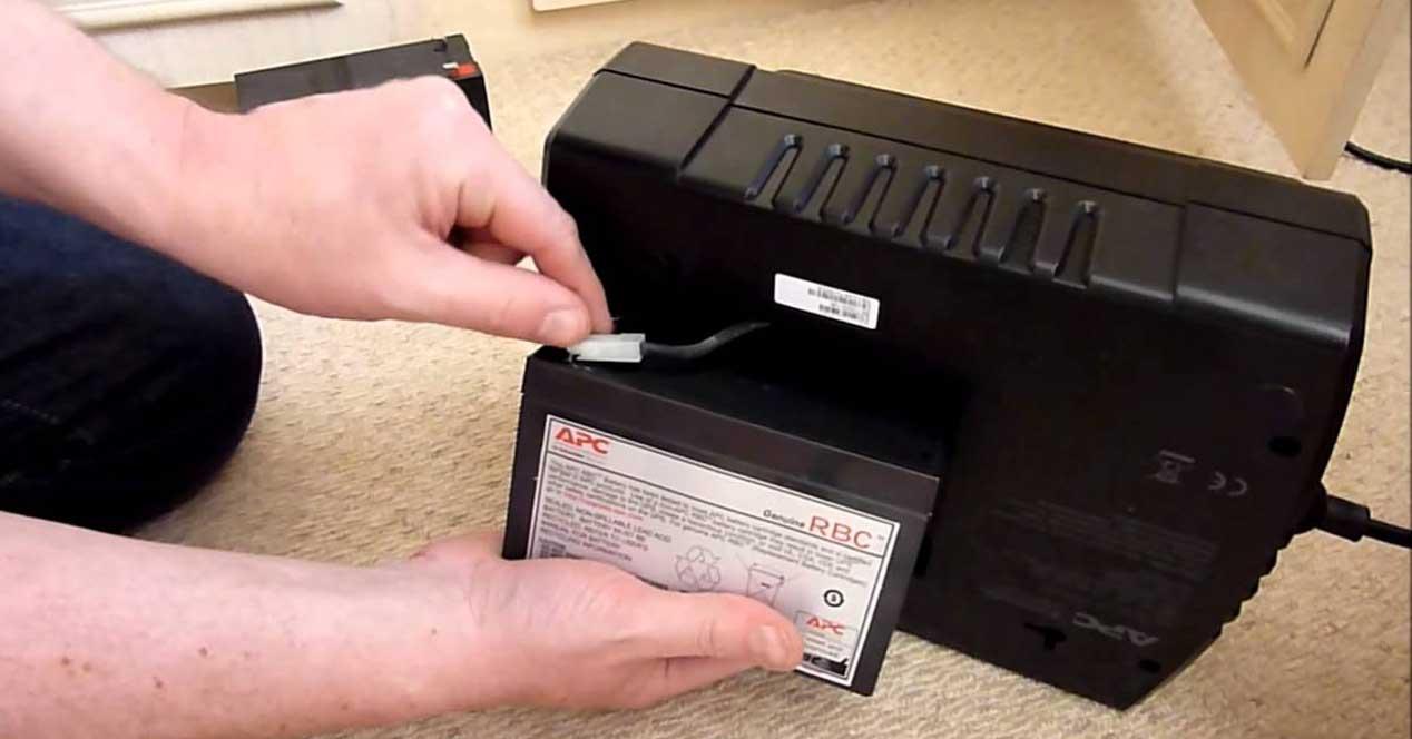 Cambiar batería SAI
