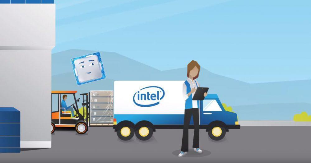 Inventario y almacén de procesador intel