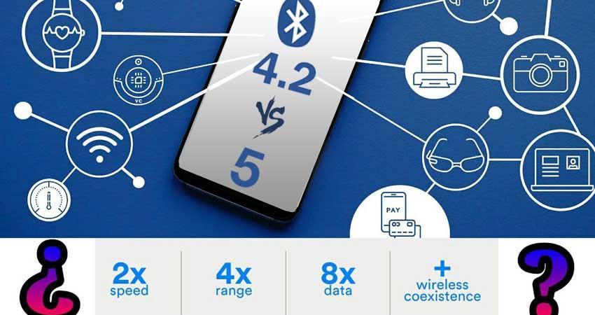Características Bluetooth 5.0 vs 4.2