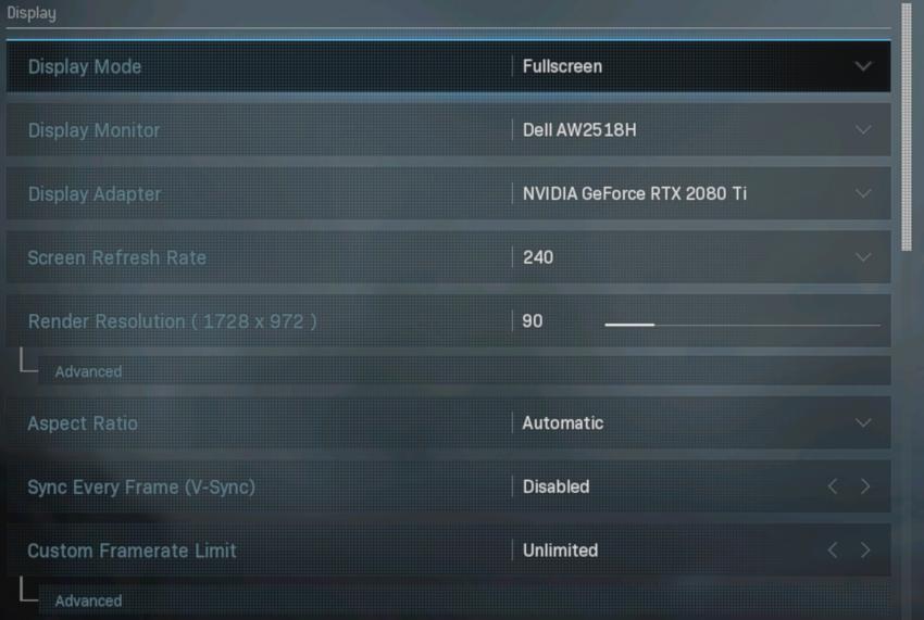 COD MW 240 FPS 1