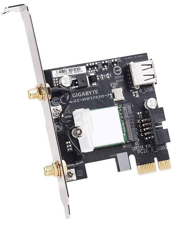 Tarjeta WiFi PCIe GIGABYTE GC-WB1733D-I