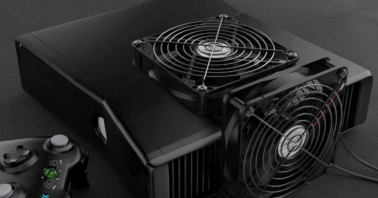 Ventiladores supletorios consola