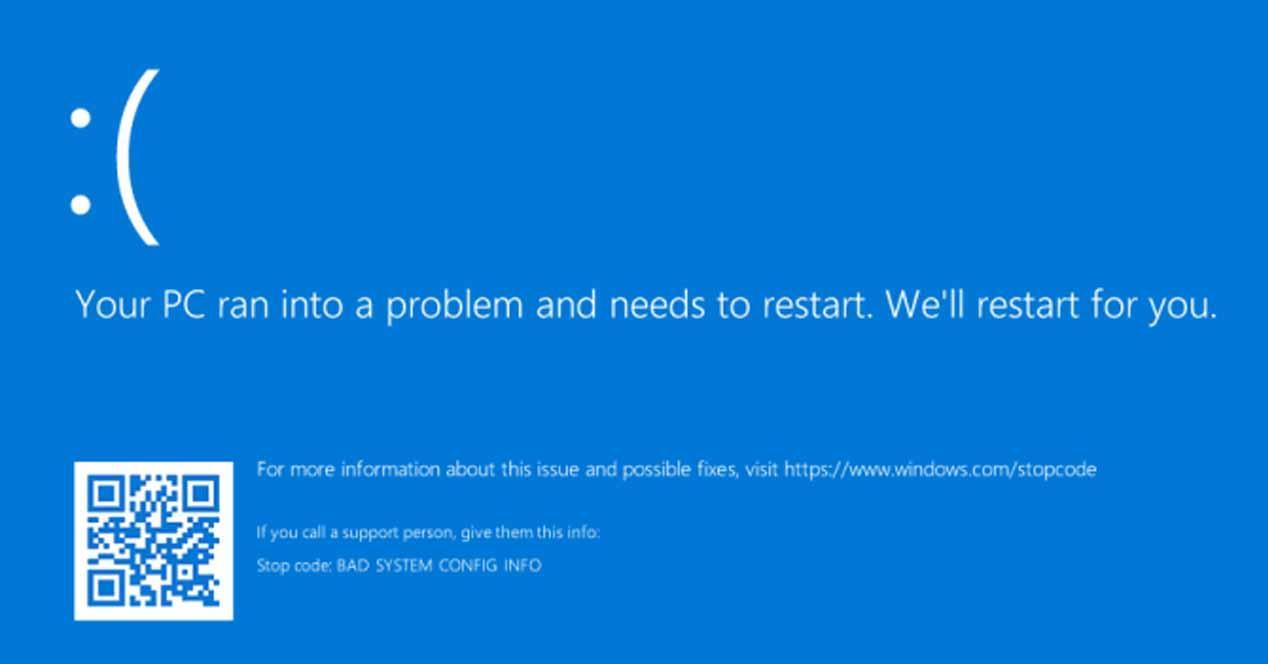 BSOD Tu PC tuvo un problema