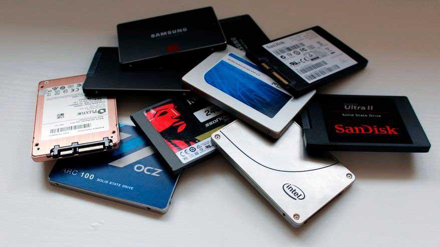 Pila de SSDs