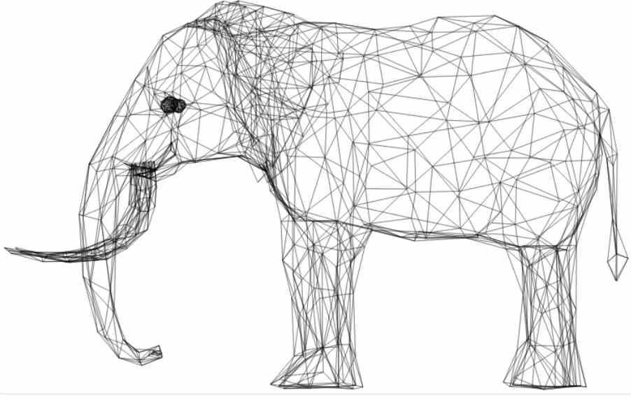 Elefant trådram
