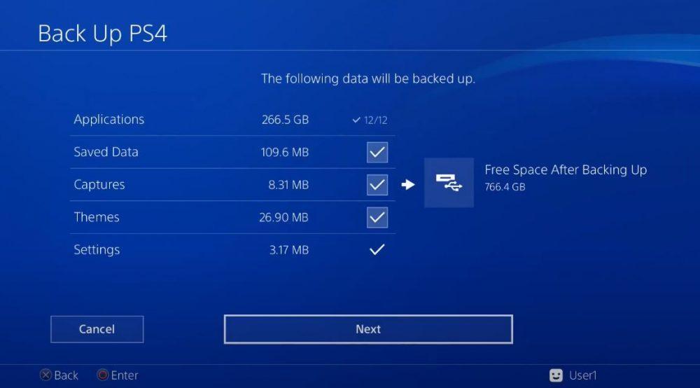Backup PS4