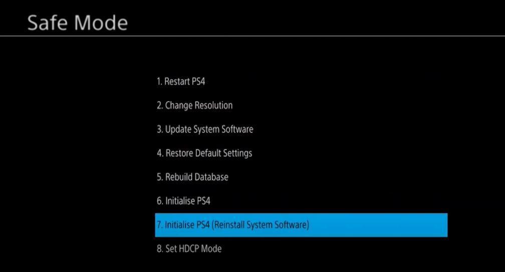 Reinstalar PS4 Pro