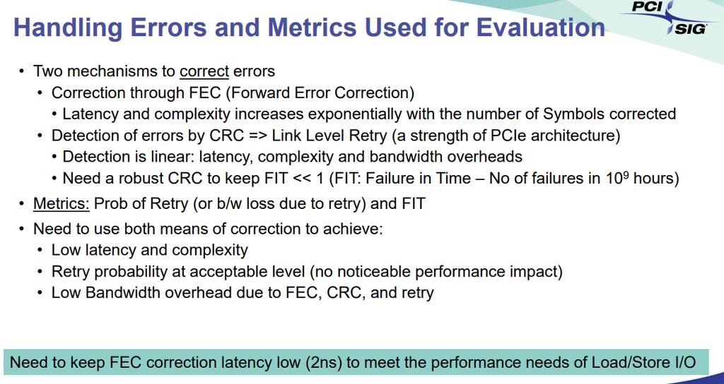 FEC PCIe 6.0 3