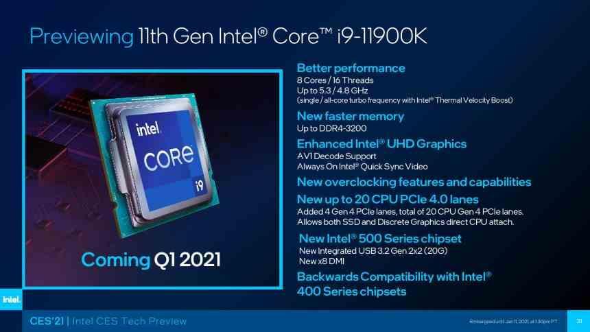 11 Gen Intel RKL