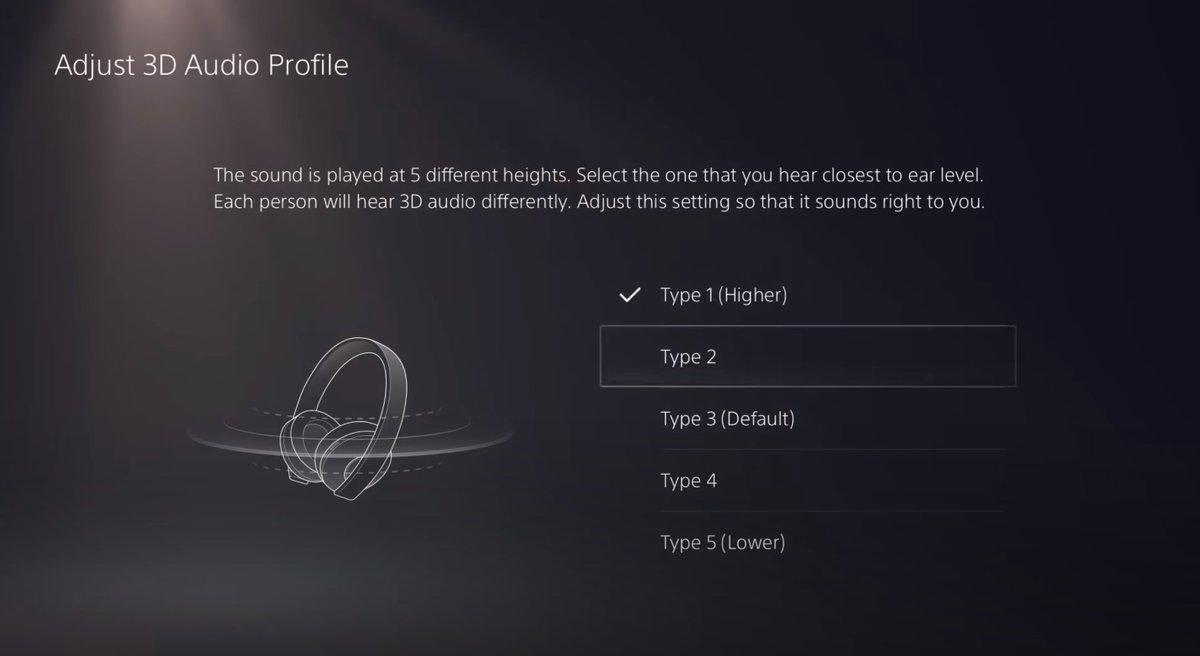 PS5 Audio Profile