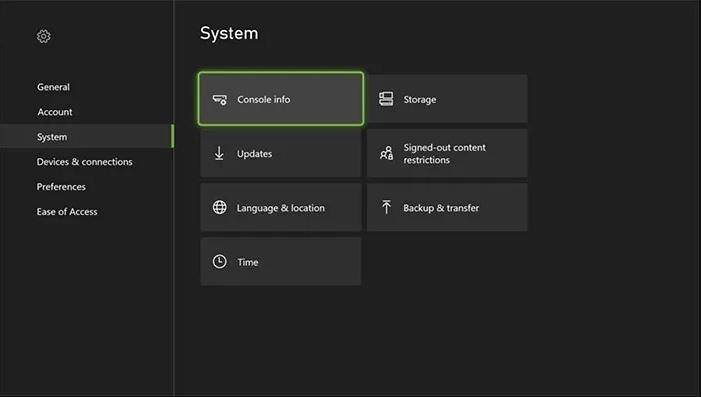 Xbox Console Info