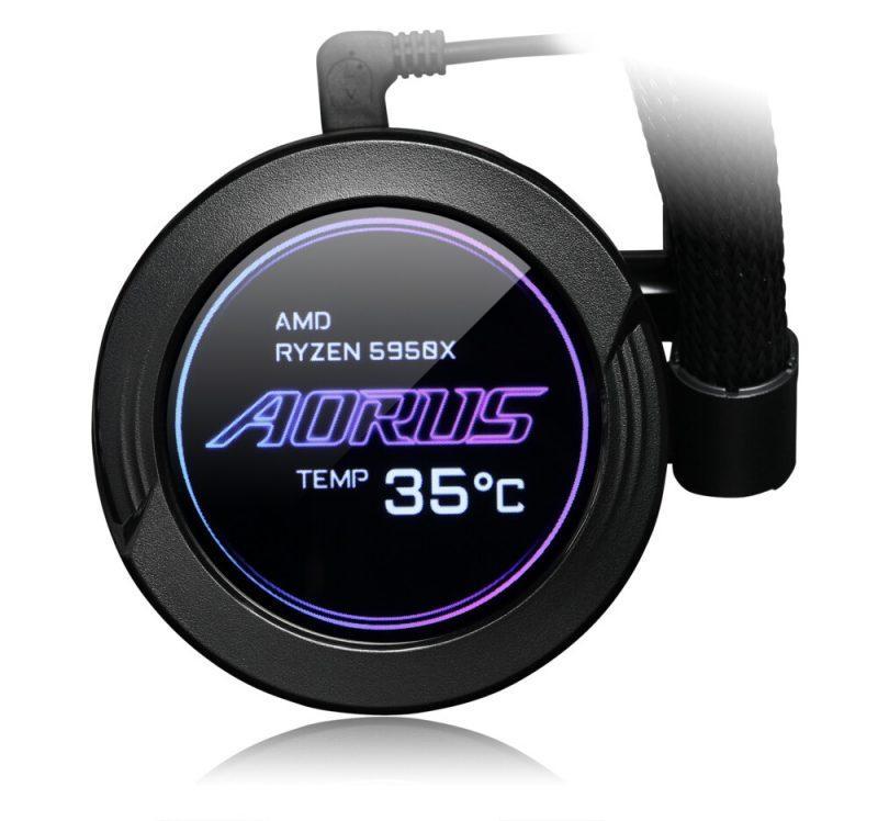 AORUS Waterforce X pantalla