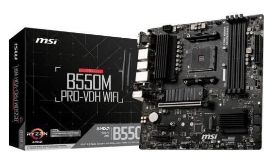 Placas base AMD MSI B550M Pro-VDH