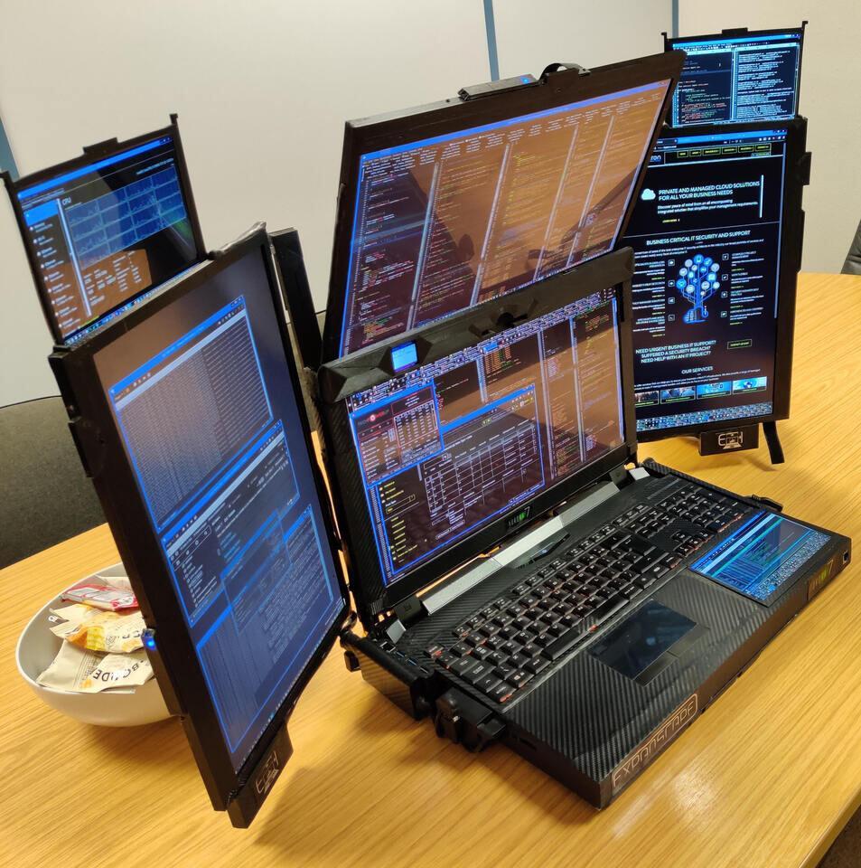 Portátil siete pantallas
