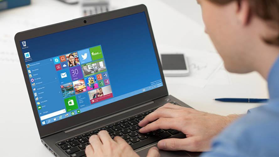 Windows 10 en un portátil