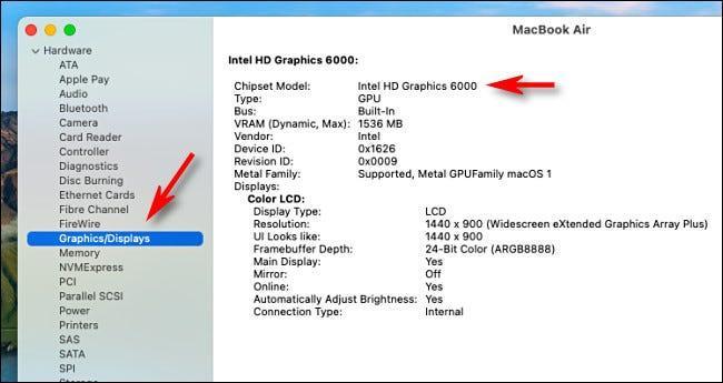 Gráfica Intel en Mac