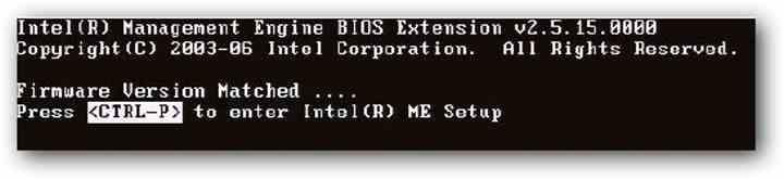 Intel ME Boot