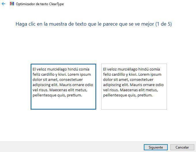 Optimización ClearType