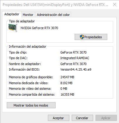 Propiedades GPU