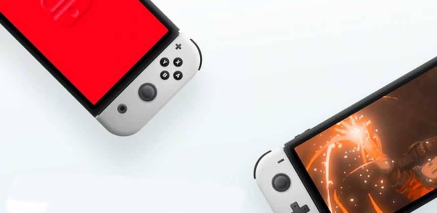 Nintendo Switch OLED Mockup