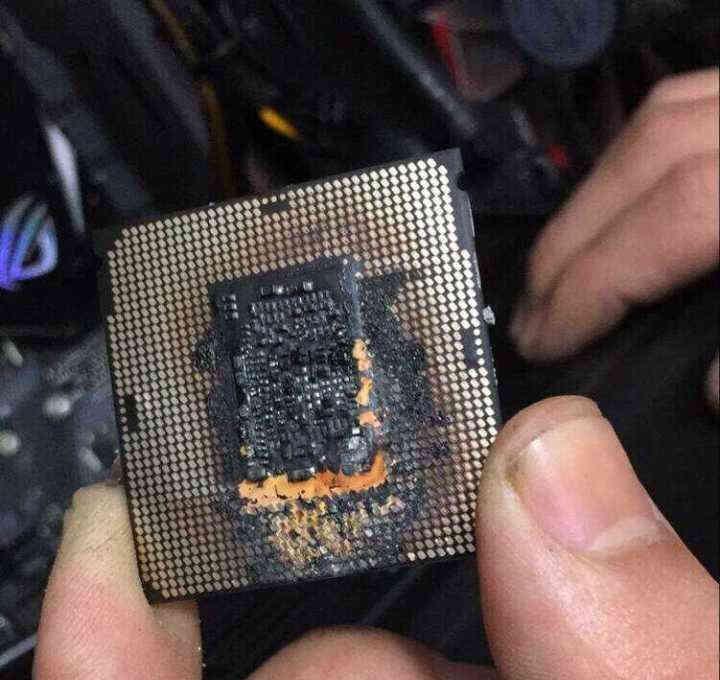 CPU Quemada